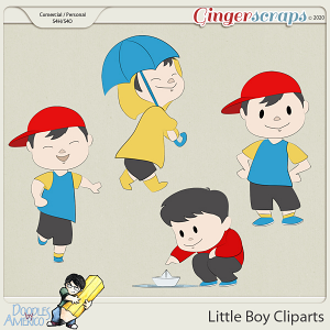 Doodles By Americo: Little Boy Cliparts