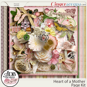 Heart of a Mother Page Kit by ADB Designs