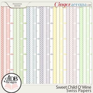 Sweet Child 'O Mine Swiss Papers by ADB Designs