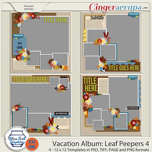 CU - Vacation Album: Leaf Peepers 4 by Miss Fish Templates