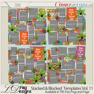 Stacked & Blocked Templates Vol. 11 by LDrag Designs