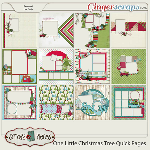 One Little Christmas Tree Quick Pages by Scraps N Pieces