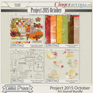 Project 2015 October - Art Journal Bundle
