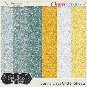 Sunny Days Glitter Sheets