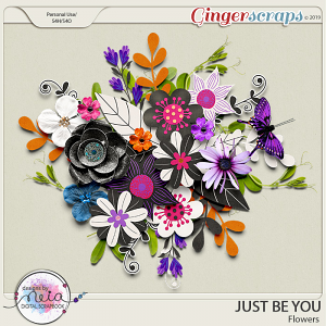 Just Be You - Flowers- by Neia Scraps