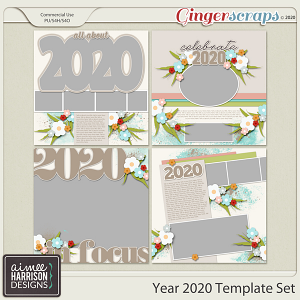 Year 2020 Templates by Aimee Harrison