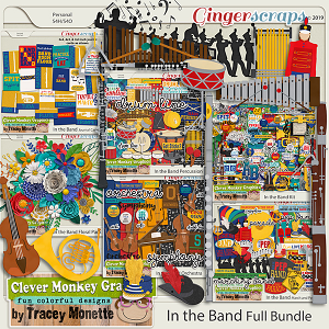 In the Band Full Bundle by Clever Monkey Graphics