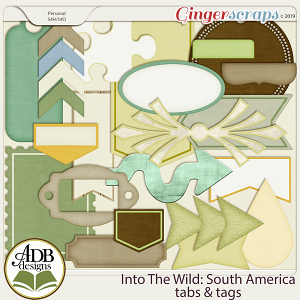 Into The Wild South America Tags by ADB Designs