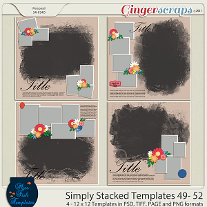 Simply Stacked 49-52 Templates by Miss Fish