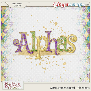 Masquerade Carnival Alphabets