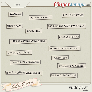 Puddy Cat Words