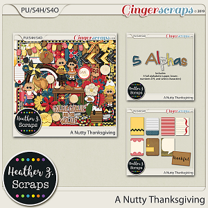 A Nutty Thanksgiving BUNDLE by Heather Z Scraps
