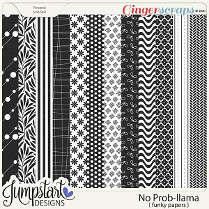 No Prob-llama {Funky Papers} by Jumpstart Designs