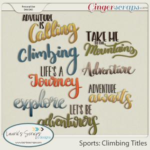 Sports: Climbing Titles