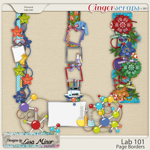 Lab 101 Page Borders from Designs by Lisa Minor