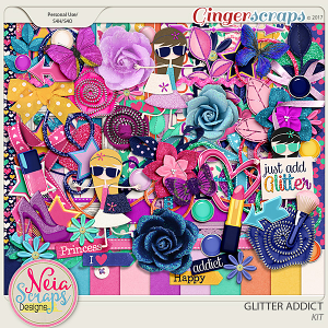 Glitter Addict - kit - By Neia Scraps