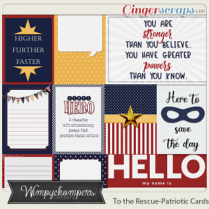 To the Rescue- Patriotic Cards