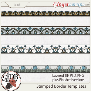 Heritage Resource - Stamped Border Templates by ADB Designs