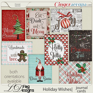 Holiday Wishes: Journal Cards by LDragDesigns