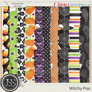 Witchy Poo Worn and Torn Papers
