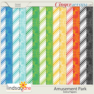 Amusement Park Extra Papers by Lindsay Jane