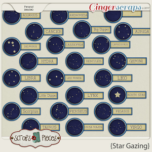 Star Gazing tags by Scraps N Pieces