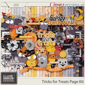 Tricks for Treats Page Kit by Aimee Harrison