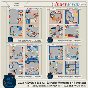 2021 NSD Template Grab Bag 2 by Miss Fish -Everyday Moments 1-4