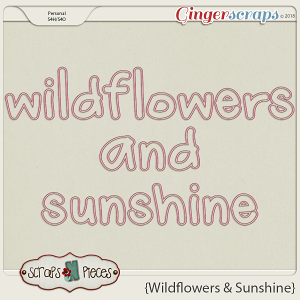 Wildflowers and Sunshine alpha by Scraps N Pieces