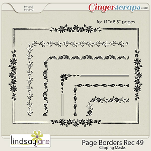 Page Borders Rec 49 by Lindsay Jane