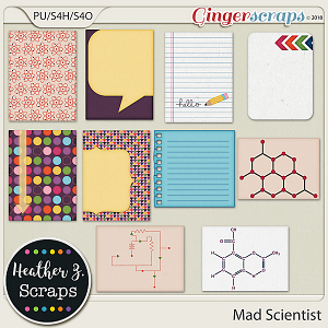 Mad Scientist JOURNAL CARDS by Heather Z Scraps