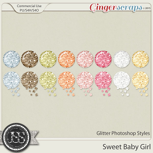 Sweet Baby Girl Glitter Photoshop Styles