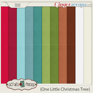 One Little Christmas Tree Cardstocks by Scraps N Pieces