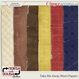 Take Me Away {Shabby Papers} by Trixie Scraps and Connie Prince