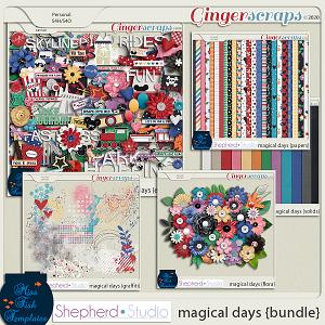Magical Days Digital Scrapbook Kit Bundle by Miss Fish and Shepherd Studios