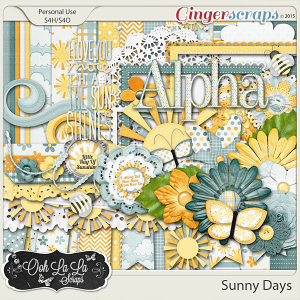 Sunny Days Digital Scrapbooking Kit