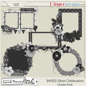 {HUES} Silver Celebration - Cluster Pack