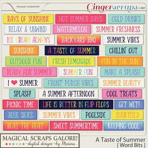 A Taste of Summer (word bits)