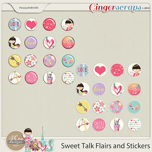 Sweet Talk Flairs and Stickers by JoCee Designs