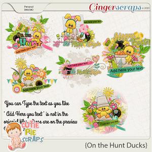 On the Hunt Ducks-WordsArt