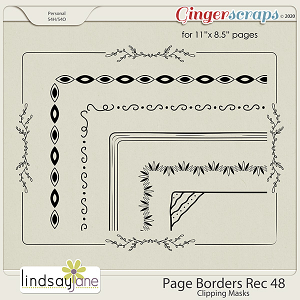 Page Borders Rec 48 by Lindsay Jane
