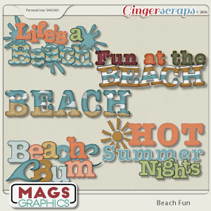 Beach Fun WORD ART