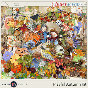 Playful Autumn Kit by Snickerdoodle Designs and Linda Cumberland Designs