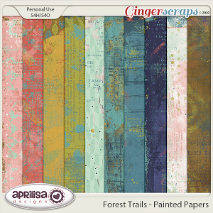 Forest Trails - Painted Papers by Aprilisa Designs