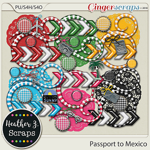 Passport to Mexico ACCENTS by Heather Z Scraps