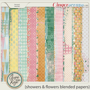 Showers and Flowers Blended Papers by Chere Kaye Designs