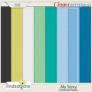 My Story Embossed Papers by Lindsay Jane