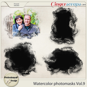 Watercolor photomasks Vol.9