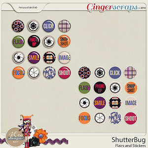 Shutterbug Flairs and Stickers by JoCee Designs