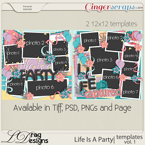 Life Is A Party: Templates Vol. 1 by LDragDesigns